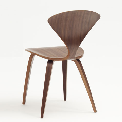 Norman Cherner Side Chair In Classic Walnut Stardust