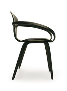 Norman Cherner Armchair In Ebony Lacquer ...