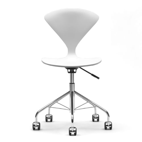 Norman Cherner Office Task Chair Swivel Base White Lacquer Seat  sc 1 st  Stardust Modern Design & Norman Cherner Office Task Chair Swivel Base White Lacquer Seat ...