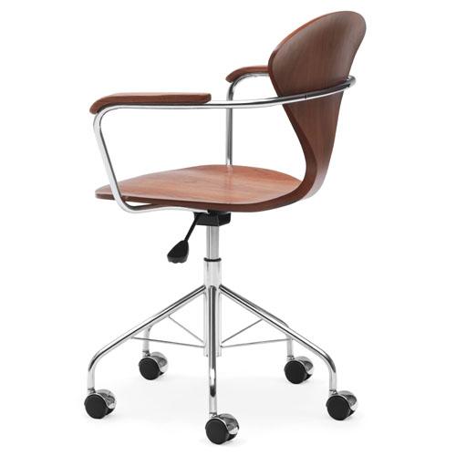 norman cherner task armchair swivel base