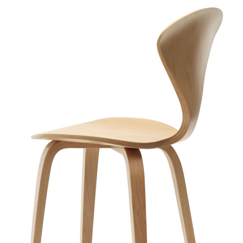 Norman Cherner Counter Bar Stool ... - Norman Cherner Counter Bar Stool Wooden Base In Natural Beech