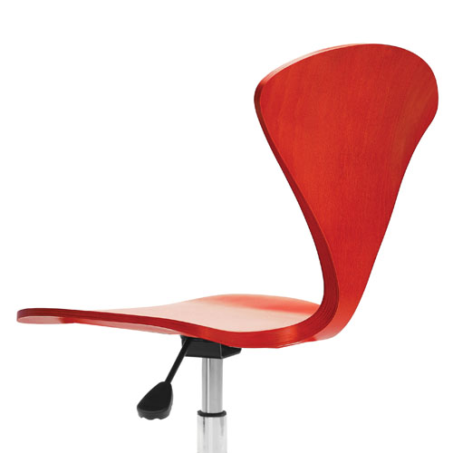 molded plywood chairs cherner modern red. norman cherner office task chair molded plywood chairs modern red d