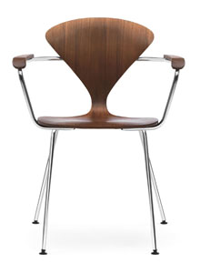 Norman Cherner Armchair Chrome Base and Arms with Classic ...
