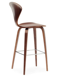 Norman Cherner Counter Bar Stool Wooden Base In Classic