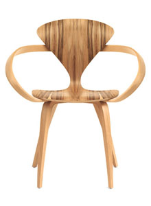 Norman Cherner Armchair in Red Gum | Stardust