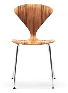 norman cherner stacking side chair chrome base red gum. Black Bedroom Furniture Sets. Home Design Ideas