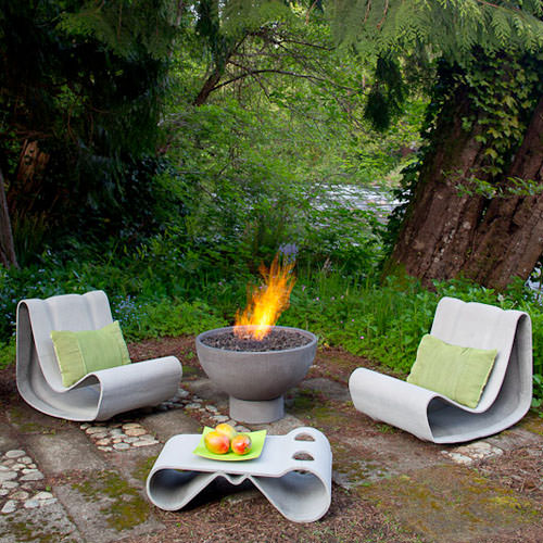 Loop Chair Modern Concrete Outdoor Chair By Willy Guhl Stardust