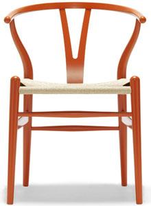 Hans Wegner CH24 Wishbone Chair In Orange ...