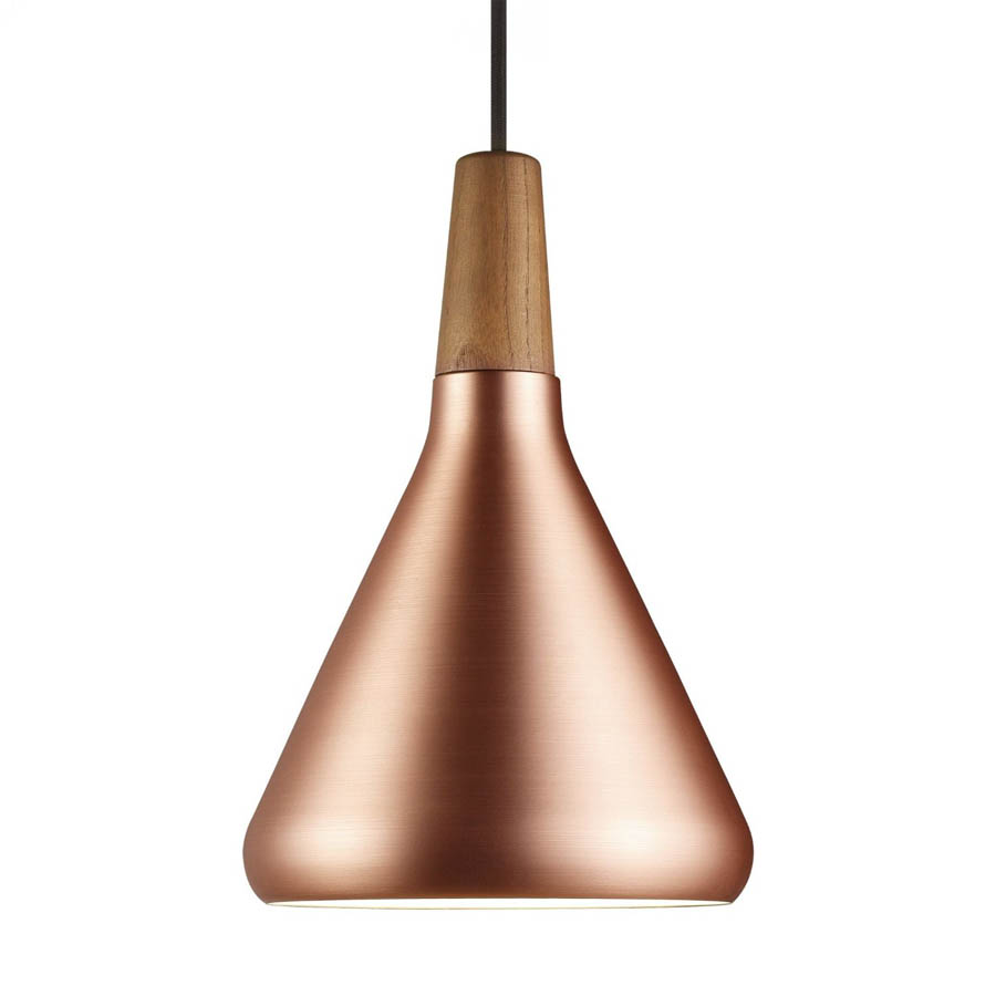 Modern walnut copper hanging pendant light stardust modern walnut copper hanging pendant light mozeypictures Image collections