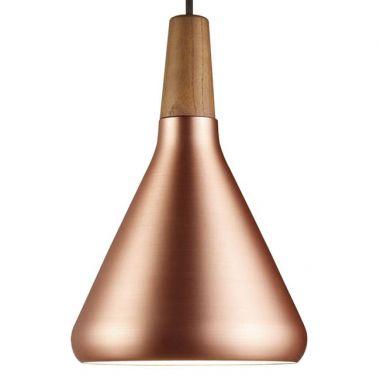 Merveilleux Modern Walnut U0026 Copper Hanging Pendant Light ...