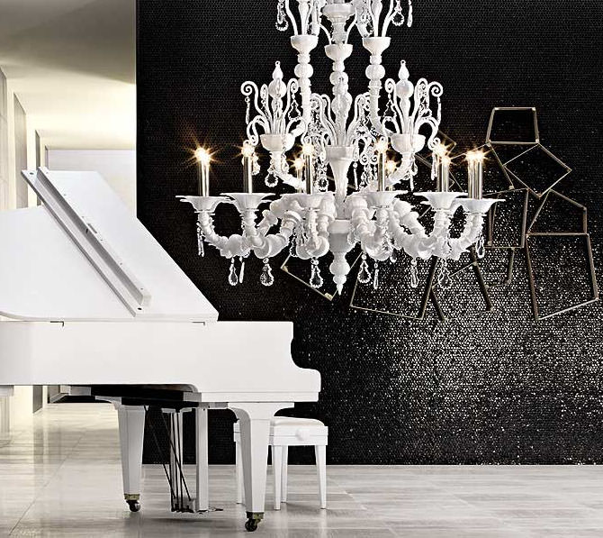 barovier and toso taif chandelier white