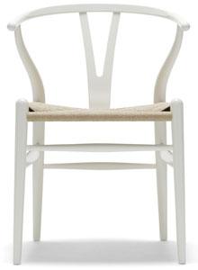 hans wegner ch24 wishbone chair in white