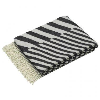 Diagonals Black And White Striped Throw Blanket By Vitra Stardust Amazing Black And White Striped Throw Blanket