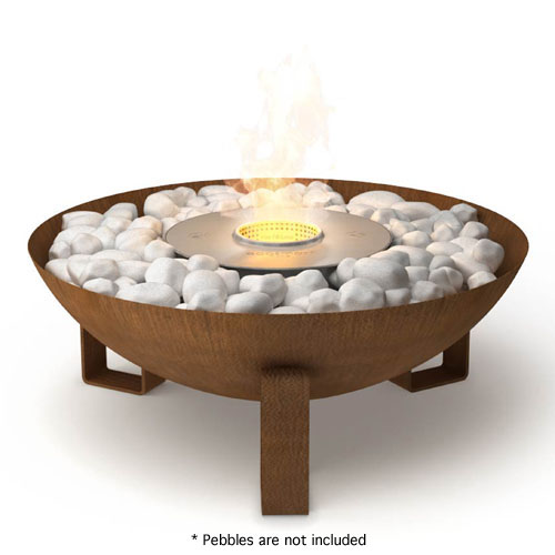 EcoSmart Fire: Dish Modern Ventless Outdoor Fireplace | Stardust ...