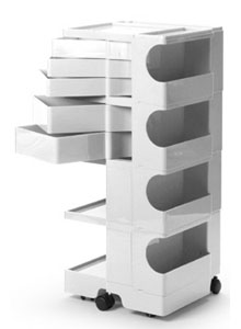 Joe Colombo Boby Mobile Office Organizer B45   4 Sections + 5 Drawers ...