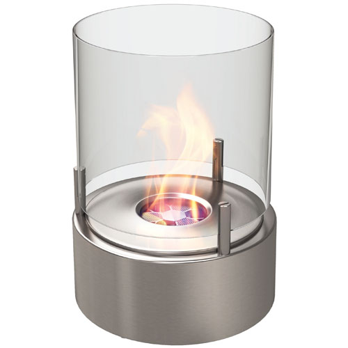 Ecosmart Fire Cyl Modern Ventless Outdoor Fireplace