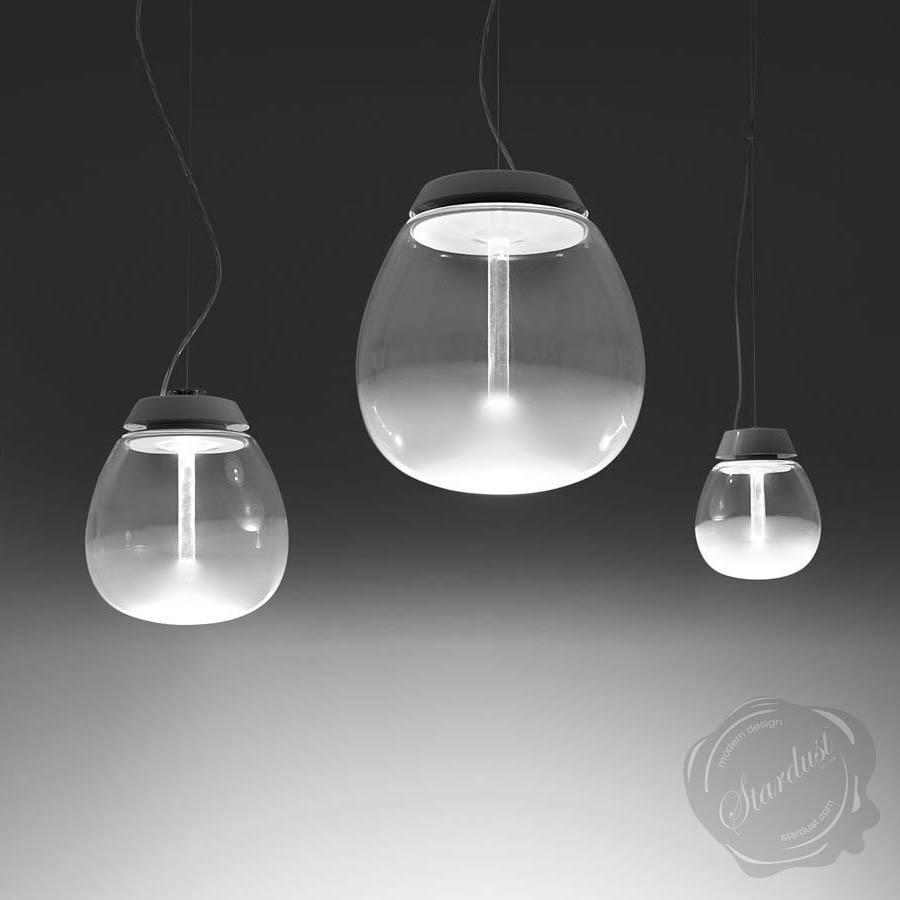 Empatia 162636 frosted clear modern glass pendant light by artemide aloadofball Images
