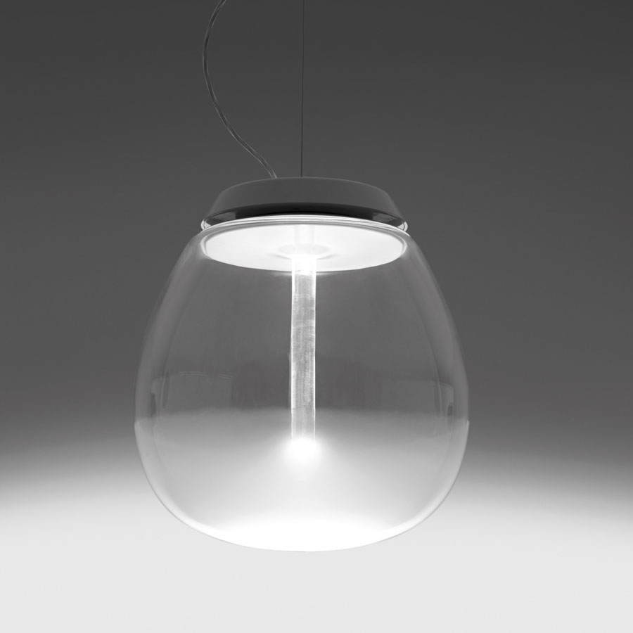 Empatia 162636 frosted clear modern glass pendant light by artemide artemide empatia suspension murano glass pendant light aloadofball Image collections