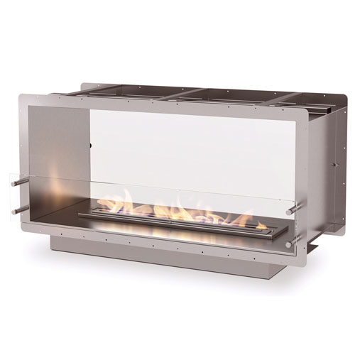 The Firebox 1200DB is designed and manufactured by Ecosmart Fire. This lightweight stainless steel