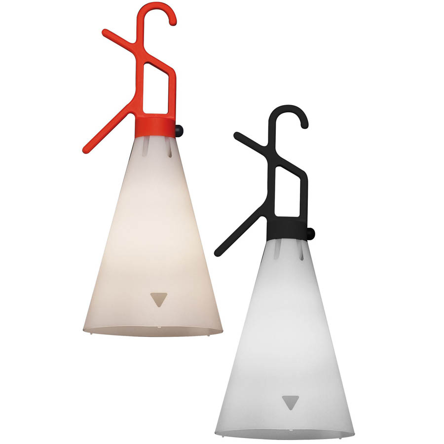 Orange hanging lamp - Flos 20 86 May Day Industrial Utility Hanging Light Orange Black