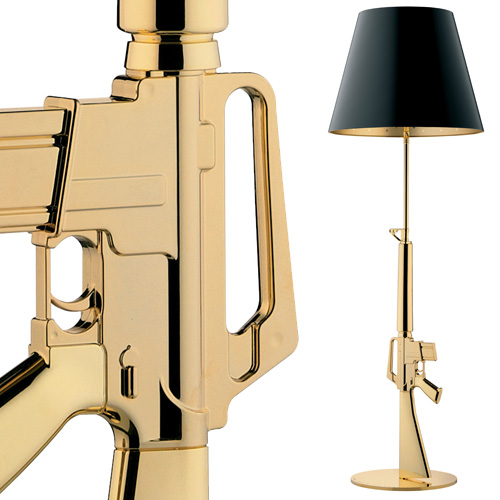 flos lounge gun gold floor lamp