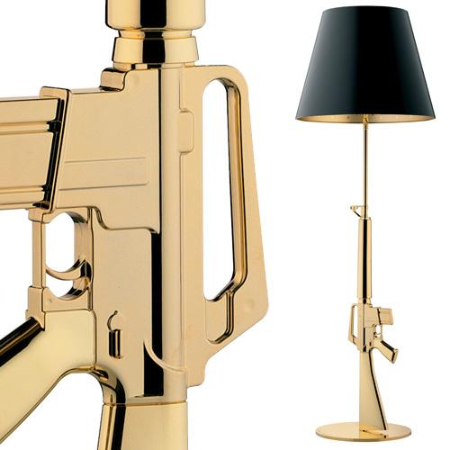 Flos Lounge Gun Gold Floor Lamp 18kgold Philippe Starck Stardust