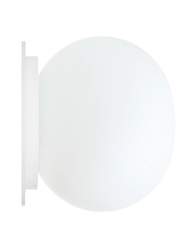 "Flos Mini Glo-Ball CW 4.4"" Modern Glass Sconce Morrison"