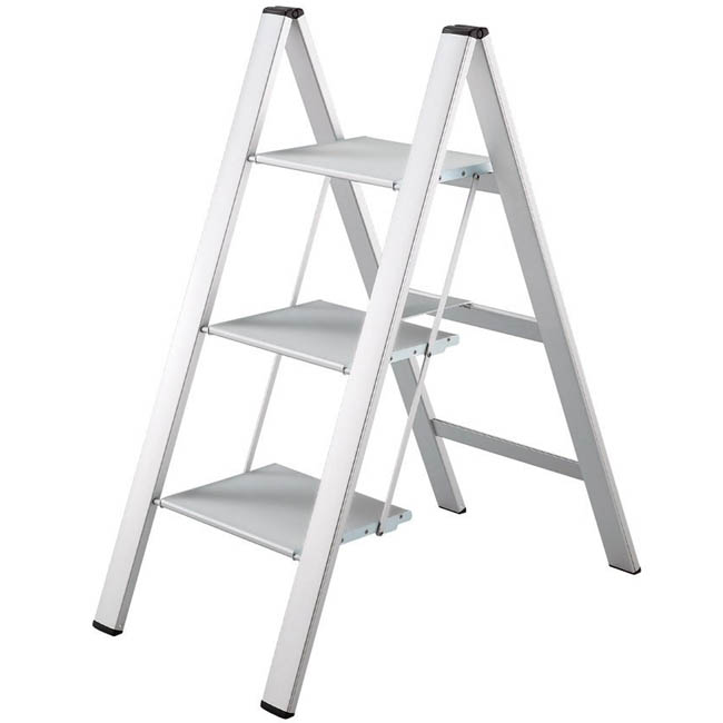 3 Steps Aluminum Step Stool Stardust