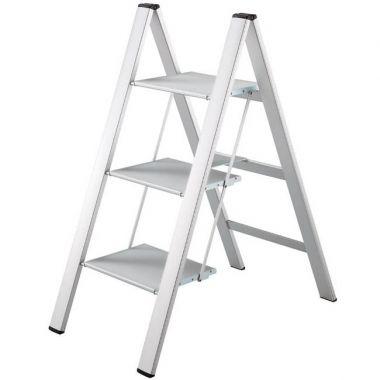 3 Grip Step Lightweight Aluminum Folding Ladder With