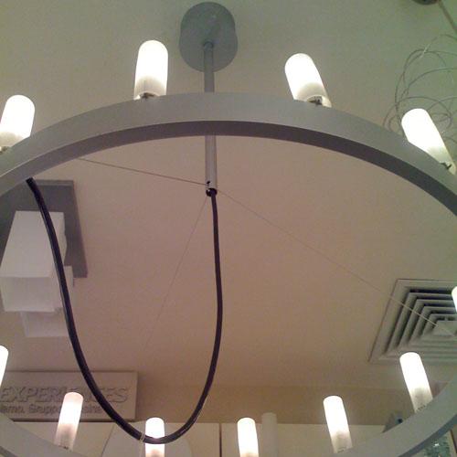 fontanaarte chandelier by david chipperfield stardust. Black Bedroom Furniture Sets. Home Design Ideas