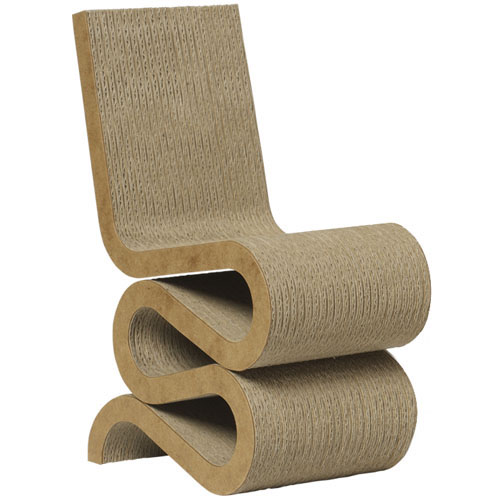 wiggle frank gehry 39 s wiggle chair masterpiece cardboard. Black Bedroom Furniture Sets. Home Design Ideas