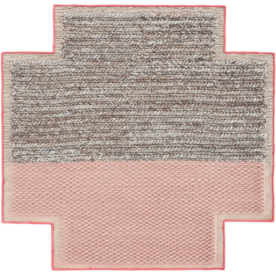 gandia blasco mangas space plait square pink rug   stardust