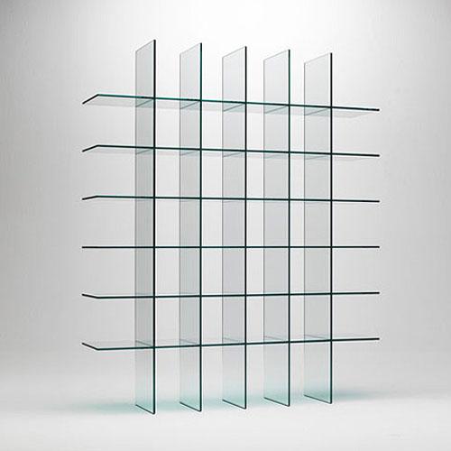 Glas italia glass shelves 1 by shiro kuramata stardust - Glass free standing shelves ...