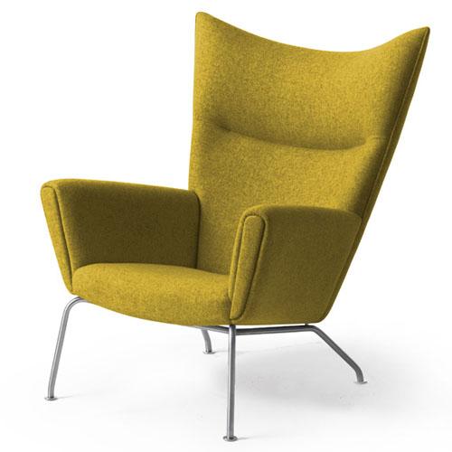Hans Wegner CH445 Wing Lounge Chair in Forest GreenStardust