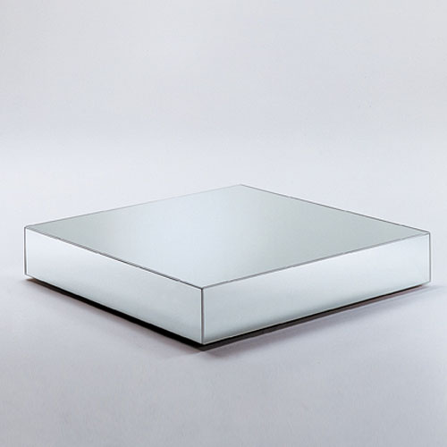 Elegant Glas Italia I Massi Mirrored Glass Coffee Table