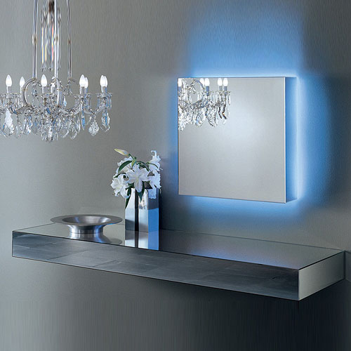 Glas Italia I Massi Mirrored Wall Mounted Shelf By Claudio