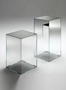 Attractive Glas Italia Illusion Mirrored Glass Occasional Side Table ...