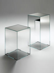 Glas Italia Illusion Mirrored Glass Occasional Side Table Stardust