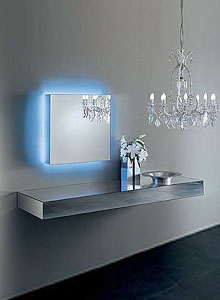 glas italia i massi mirrored wall mounted shelfclaudio