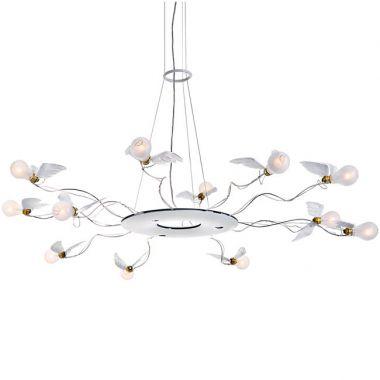 Ingo maurer birdies ring 12 light round chandelier stardust ingo maurer birdies ring 12 light round chandelier aloadofball Image collections