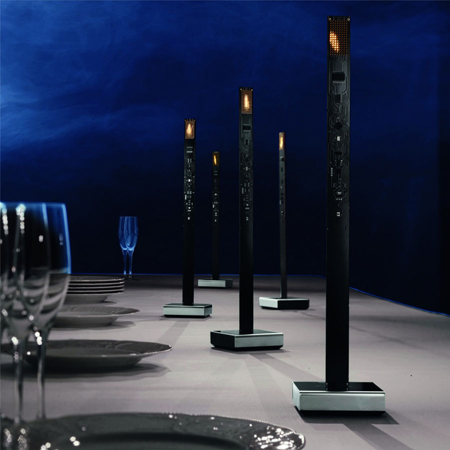 Ingo Maurer My New Flame Table Lamp By Moritz Waldemeyer Stardust Circuits Flickering Candle