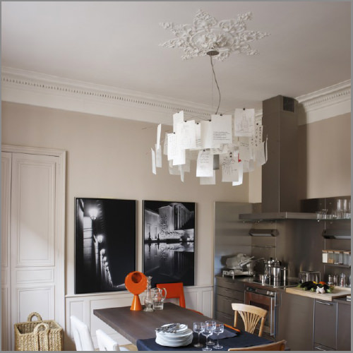 ingo maurer zettel 39 z 6 chandelier stardust. Black Bedroom Furniture Sets. Home Design Ideas