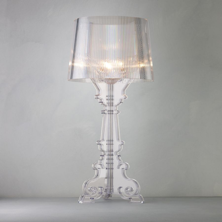 kartell bourgie table lamp with transparent shade by ferrucio laviani bourgie lamp ferruccio laviani