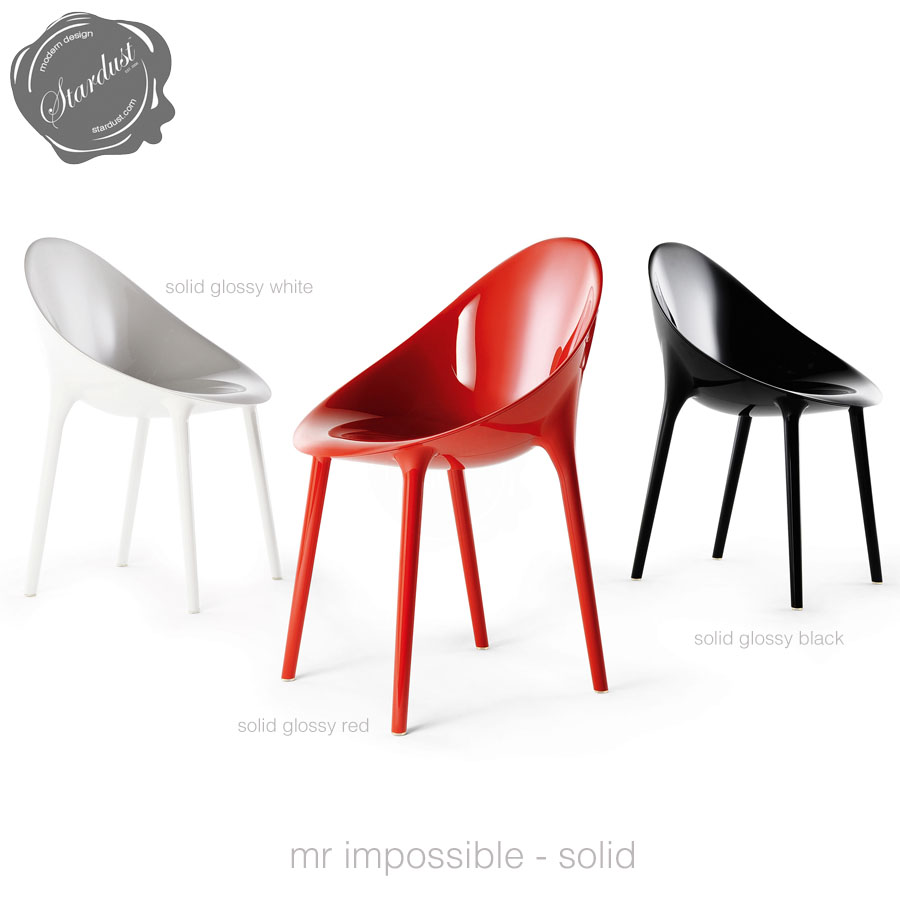 kartell mr impossible modern starck design chair  stardust - mr impossible chair