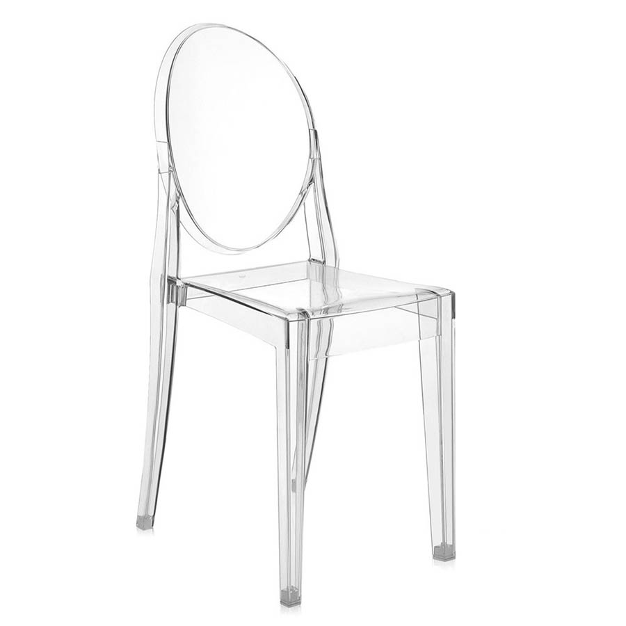 Beautiful Kartell Victoria Ghost Crystal Clear Chair ...