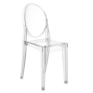 ... Kartell Victoria Ghost Crystal Clear Chair By Philippe Starck