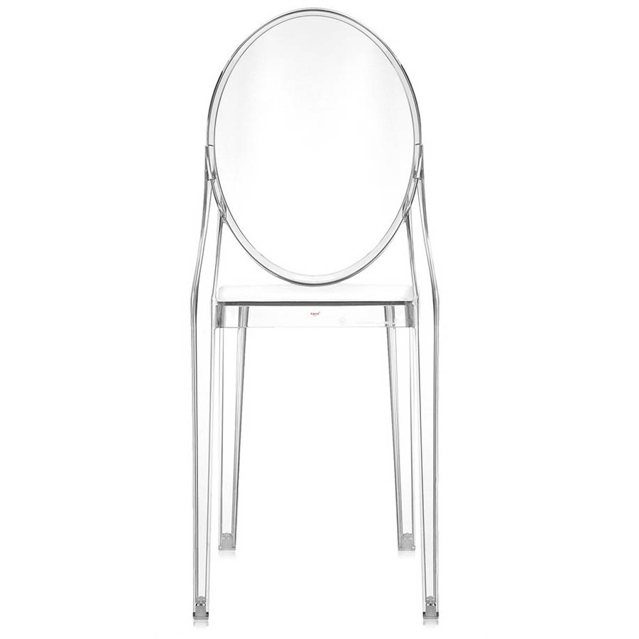 kartell victoria ghost original crystal clear chair by philippe  - kartell victoria ghost crystal clear chair