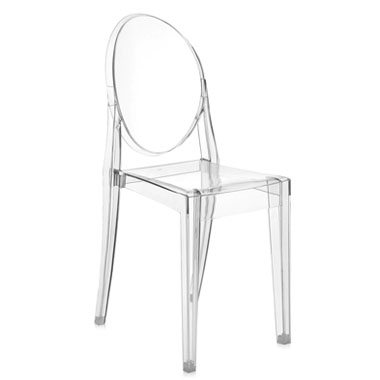 Beau Kartell Victoria Ghost Crystal Clear Chair By Philippe Starck ...