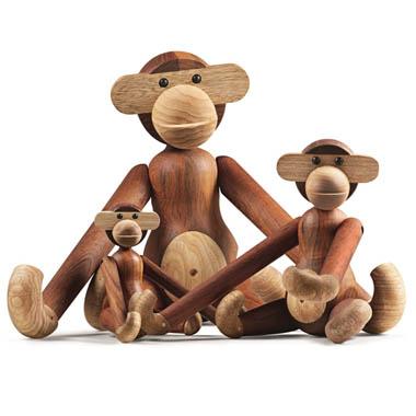 Kay Bojesen Original Teaklimba Wood Monkey By Rosendahl