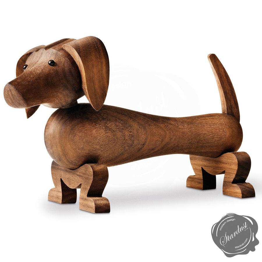 Dog Wooden Dachshund Sculpture By Kay Bojesen Stardust